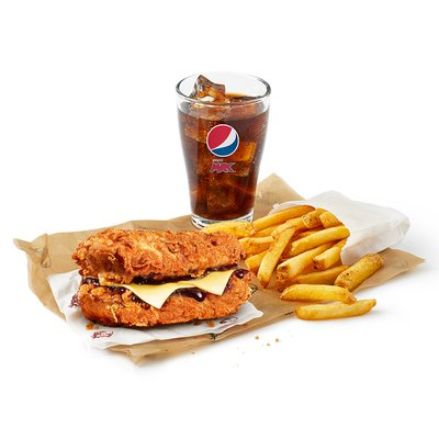 Fillet Double Down Cheese Meal