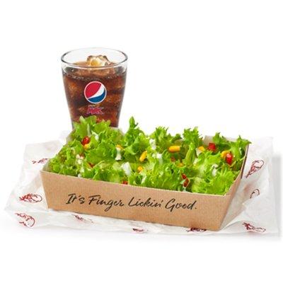 Plain Salad & Drink