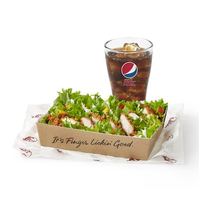 Fillet Salad with a Drink Under 600kcal