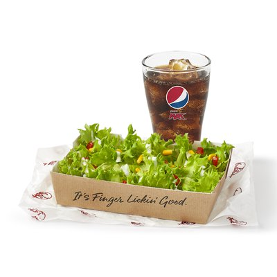 Plain Salad with a Drink Under 600kcal