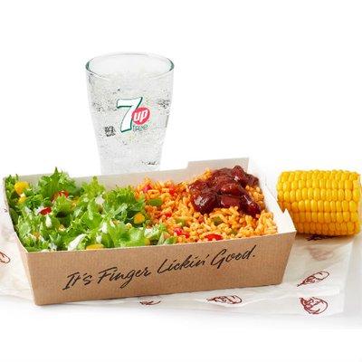 Veggie Ricebox & Drink Under 600kcal