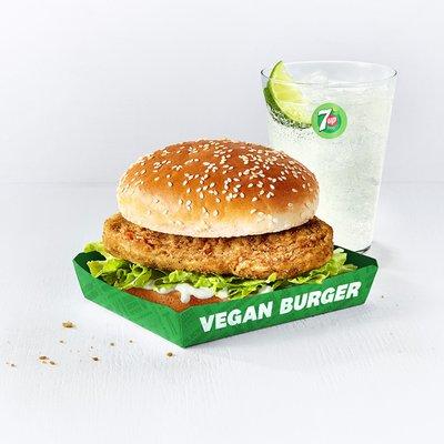 Original Recipe Vegan Burger & Drink